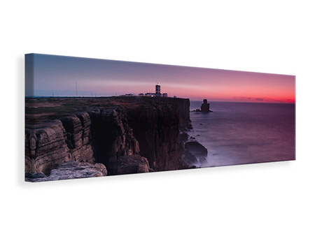 Panoramic Canvas Print The lighthouse at dusk