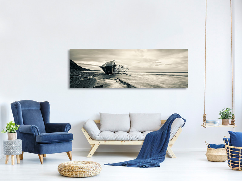 Panoramic Canvas Print Defeated By The Sea