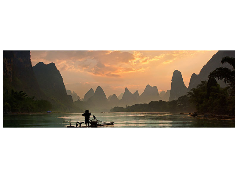 Panoramic Canvas Print Golden Li River