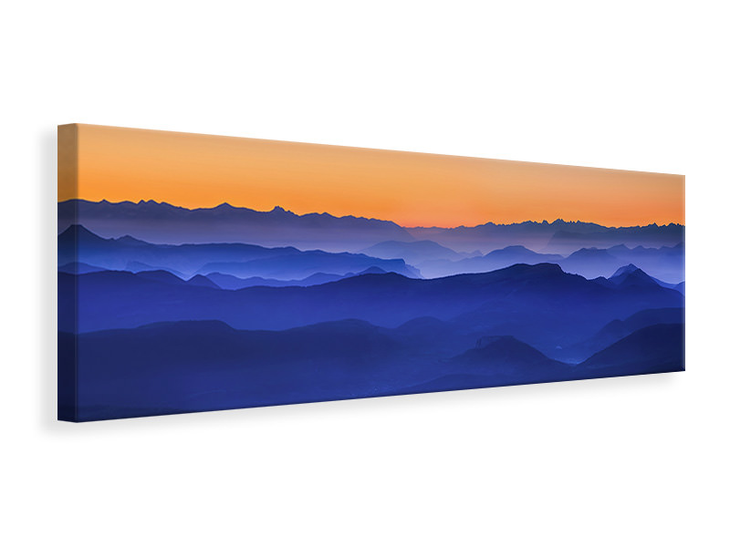Panoramic Canvas Print Misty Mountains II