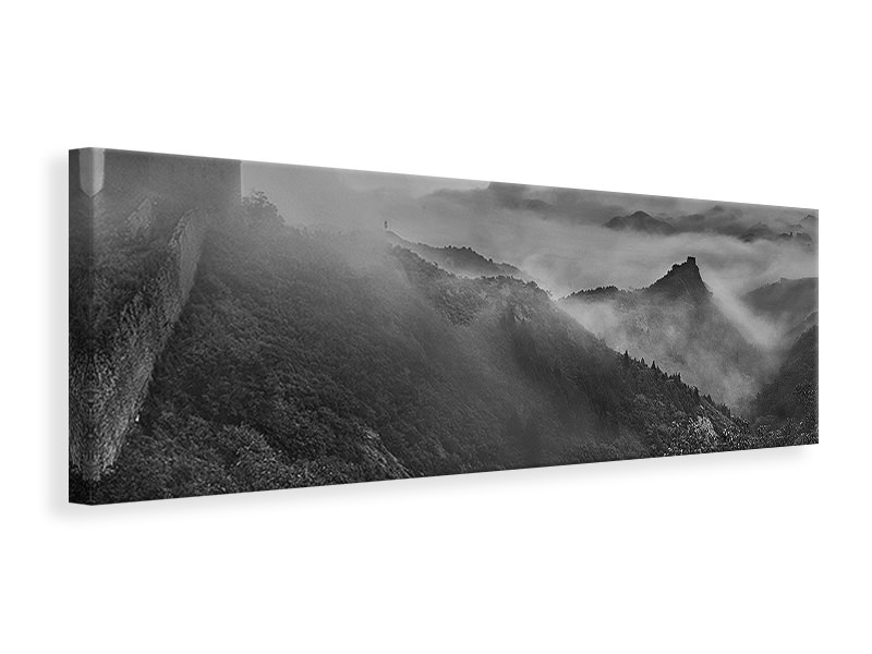 Tableau sur Toile Panoramique Misty Morning At Great Wall