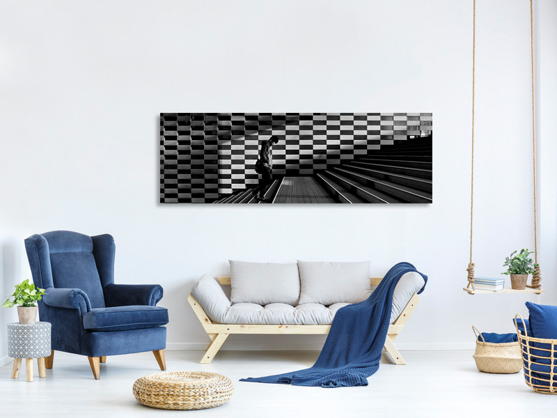 Panoramic Canvas Print Stairs II A