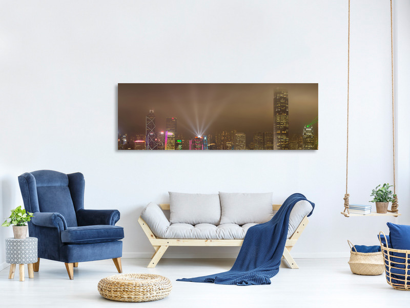 Panoramic Canvas Print Hong Kong Island