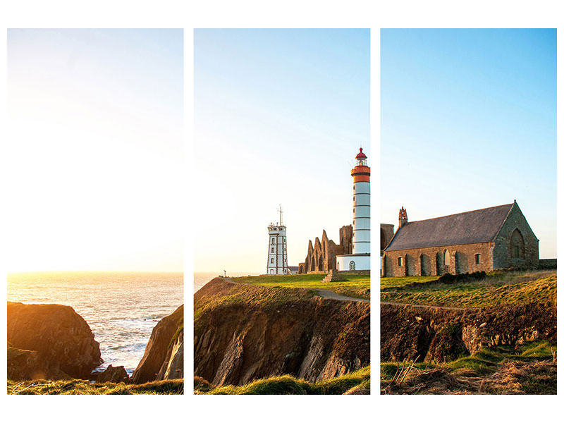 3 Piece Canvas Print The lighthouse at sunrise