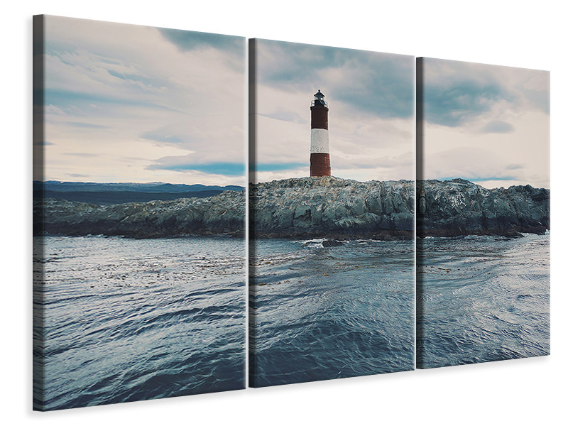 3 Piece Canvas Print The lighthouse by the sea