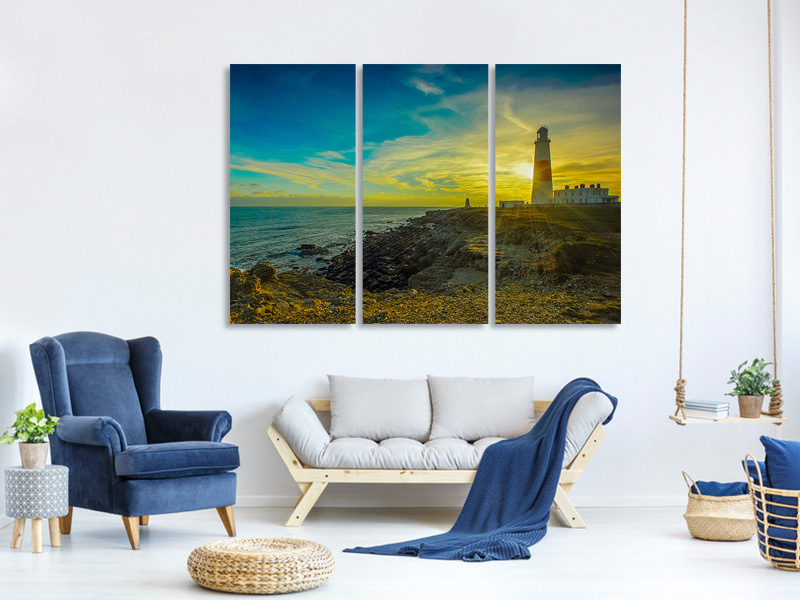 3 Piece Canvas Print Lighthouse in Portland