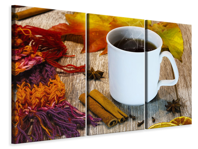 3 Piece Canvas Print Mulled wine