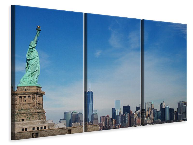 3 Piece Canvas Print Statue of Liberty NYC