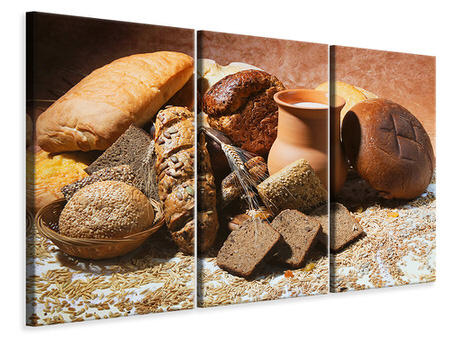 3 Piece Canvas Print Breakfast Breads