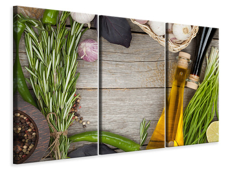 3 Piece Canvas Print Spices Italiano