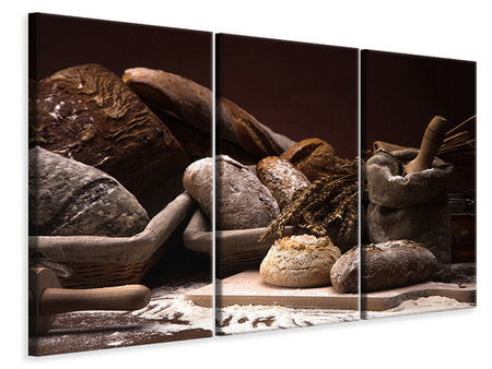 3 Piece Canvas Print Bread Bakery