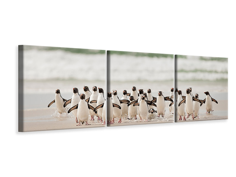 Panoramic 3 Piece Canvas Print Desembarco