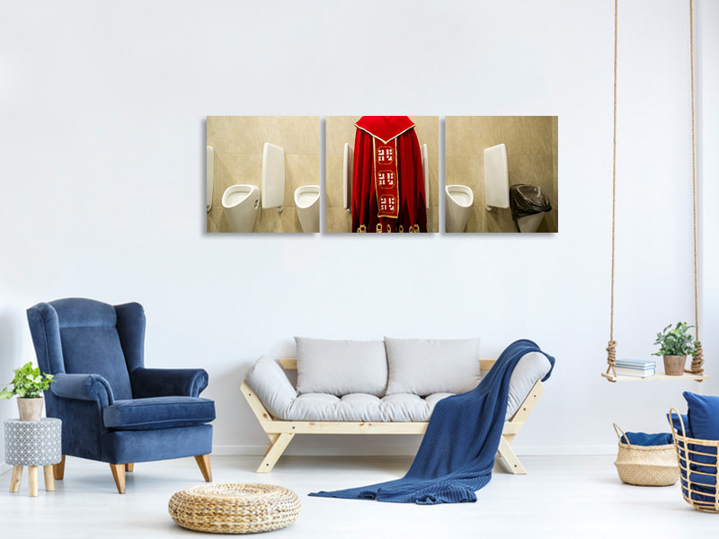 Panoramic 3 Piece Canvas Print Good To Be King
