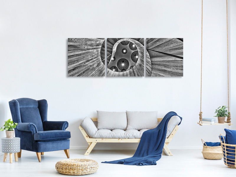 Panoramic 3 Piece Canvas Print Trust In Me