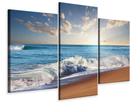 Modern 3 Piece Canvas Print The Waves Of The Sea