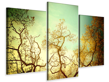 Modern 3 Piece Canvas Print Autumn Trees