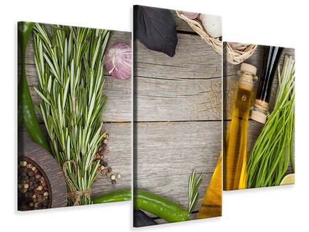Modern 3 Piece Canvas Print Spices Italiano