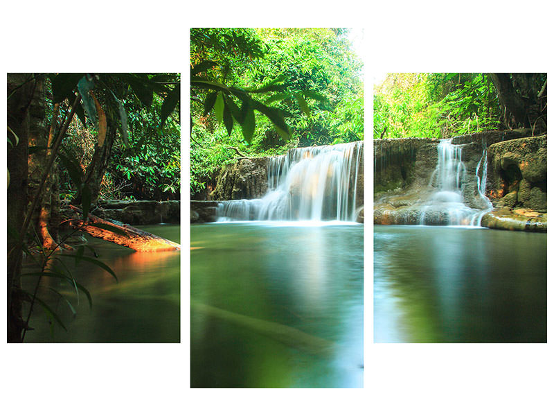 Modern 3 Piece Canvas Print Element Water