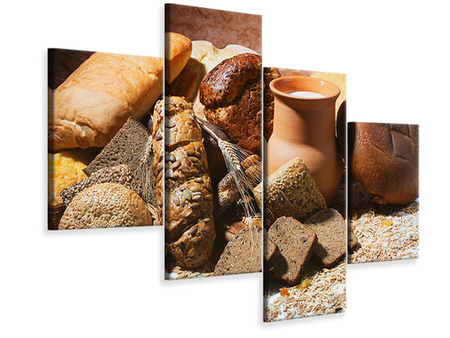 Modern 4 Piece Canvas Print Breakfast Breads