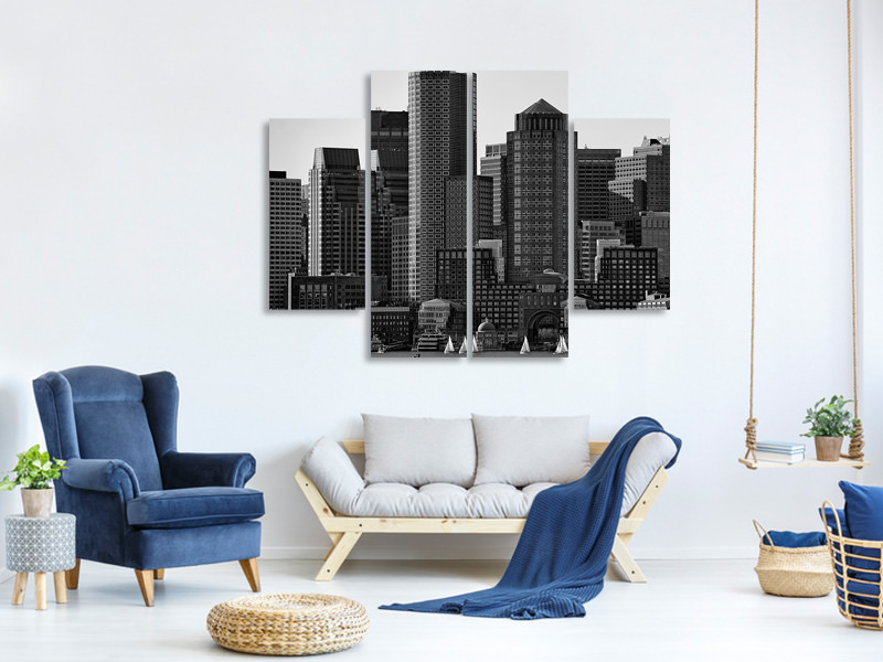 4 Piece Canvas Print Towers