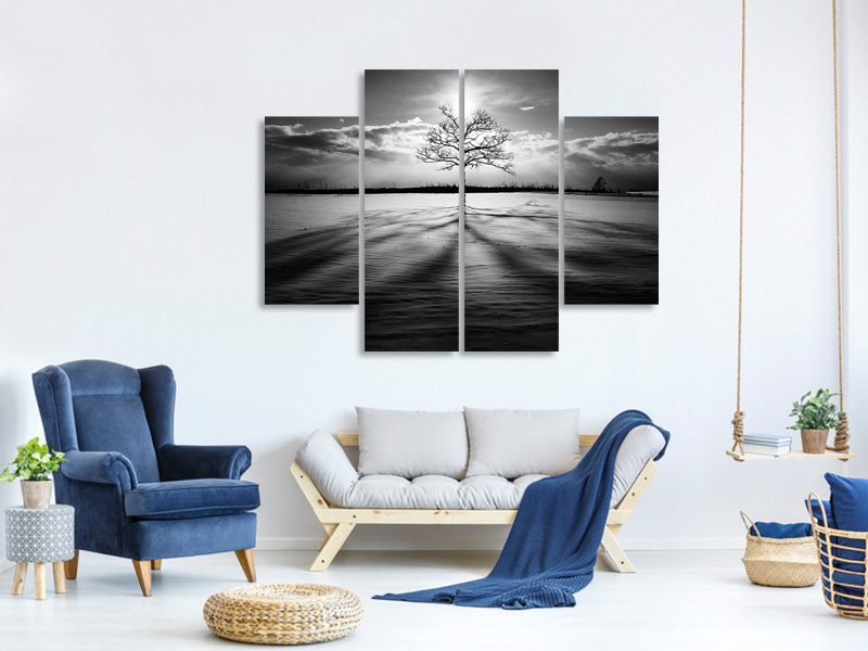 4 Piece Canvas Print Light IV