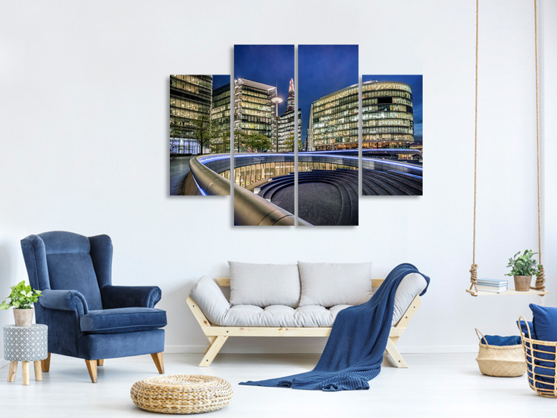 Tableau sur Toile en 4 parties Architectural Beauty Revealed