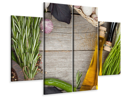 4 Piece Canvas Print Spices Italiano