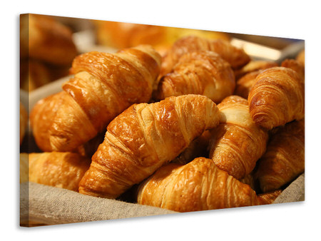 Canvas print Fresh croissants