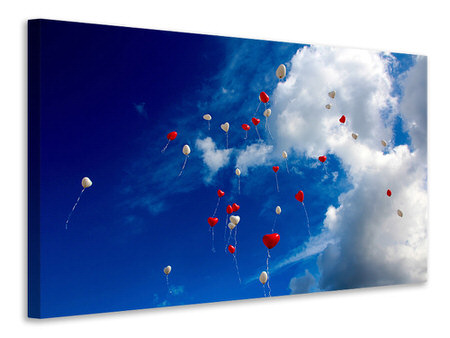Canvas print A sky full of hearts