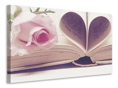 Canvas print The book of love
