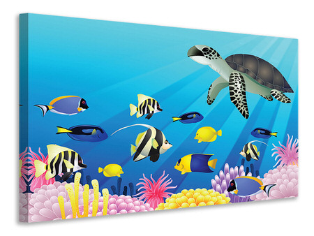 Canvas print Children`s Underwater World