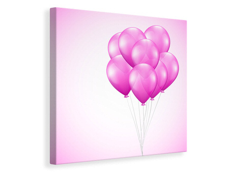 Canvas print Pink Balloons