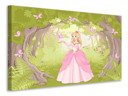 Canvas print Princess in the Wood