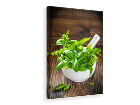 Canvas print Fresh Basil