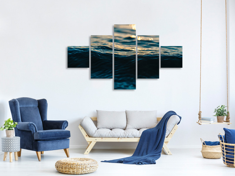 5 Piece Canvas Print The water surface