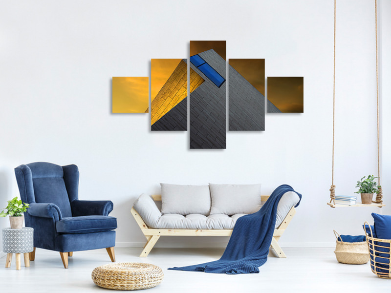 5 Piece Canvas Print Golden Glow