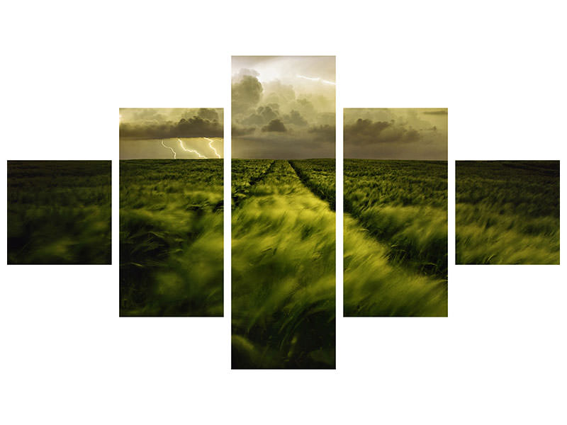 5 Piece Canvas Print Journey To The Fierce Storm