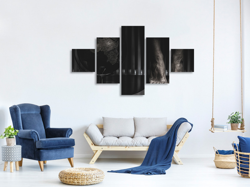 5 Piece Canvas Print The Last Jump