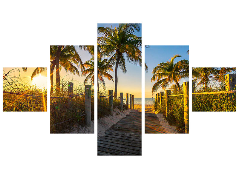 5 Piece Canvas Print The Beach House