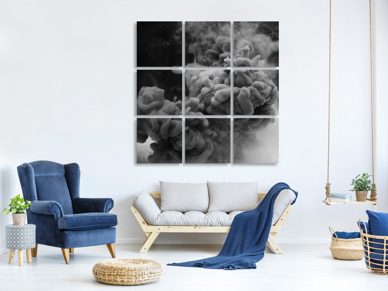 9 Piece Canvas Print Floating Art 3